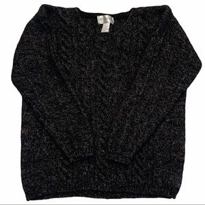 JAY JACOBS V-Neck Long Sleeve Pullover Sweater